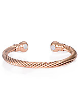 Bracelet Cuff Bracelet Copper Fashion Daily Casual Jewelry Gift Gold Rose Gold,1pc