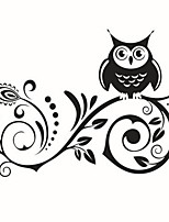 Cartoon Wall Stickers Plane Wall Stickers Decorative Wall StickersVinyl Material Home Decoration Wall Decal Owl
