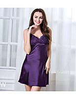 Damen Besonders sexy Nachtwäsche einfarbig-Polyester Dünn Damen