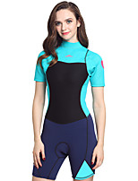 Women's 2mm Wetsuits Insulated Neoprene Diving Suit Short Sleeve Diving Suits-Swimming Diving Spring Summer Fall/Autumn Winter Fashion