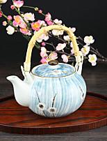 Japanese White Plum Flower High Temperature Porcelain Teapot