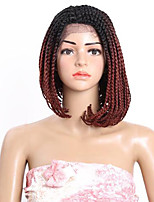 hot sale 14 Inch Box Braid Wig Synthetic Lace Front Wig Bob Braided Lace Front Wigs For Black Women Lace Front Wig Synthetic braiding hair 1pcs
