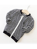 Girl Casual/Daily Striped Suit & Blazer,Cotton Summer Long Sleeve