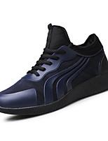 Herren-Sneaker-Outddor Lässig Sportlich-PU-Flacher Absatz-Komfort Mary Jane-Schwarz Marinenblau Rot