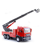 Fire Engine Vehicle Pull Back Vehicles 1:50 Metal Plastic Red