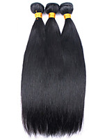 Natural Color Hair Weaves Mongolian Texture Straight 12 Months 3 Pieces hair weaves