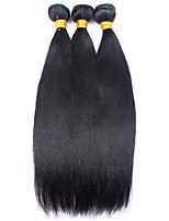 Tissages de cheveux humains Cheveux Mongoliens Droit 12 mois 3 Pièces tissages de cheveux