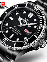 Carnival watches automatic mechanical watch stainless steel luminous calendar waterproof sports black men watch