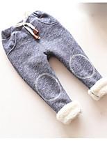 Pantalons Unisexe Décontracté / Quotidien Couleur Pleine Coton Hiver Automne