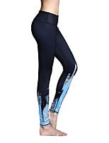 Штаны для йоги Велоспорт Колготки Леггинсы Нижняя часть Дышащий Быстровысыхающий Естественный Эластичность Спортивная одежда Жен.Йога