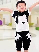 Мальчики Наборы На выход На каждый день Нарядная Хлопок Полоски Лето С короткими рукавами Набор одежды