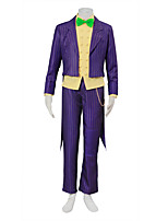 Inspired by Purple Joker Cosplay Costume with Striped Coat Halloween Christmas Male Uniform Cloth