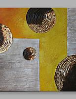 Handgemalte Abstrakt Quadratisch,Modern Ein Panel Leinwand Hang-Ölgemälde For Haus Dekoration