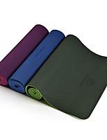 TPE Йога коврики Номера скольжения Липкий водонепроницаемый Быстровысыхающий 6 мм Розовый Зеленый Фиолетовый