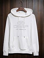 Men's Casual/Daily Hoodie Letter Round Neck Micro-elastic Cotton Long Sleeve Spring