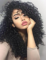 10-26 Inch Human Virgin Hair Natural Black Color Lace Front Wig Small Curly Hair Wig with Baby Hair
