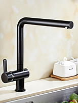 High Quality Brass Antique Oil-rubbed Bronze Single Handle One Hole Rotatable Kitchen Sink Faucet