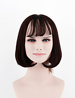 2017 Japan and South Korea new black short section in the sub-Liuhai straight hair high temperature wire wig