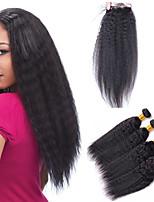 Tissages de cheveux humains Cheveux Brésiliens 12 mois 5 Pièces tissages de cheveux