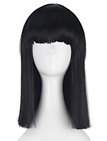 Synthetic Medium Long Straight BOB Hair for Women Girl Multi-colors Cosplay Costume Party Wig Halloween