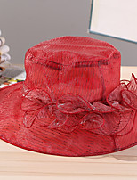 Women's Mesh Striped Wine/Red/Beige/Gray/Pink Summer Or Spring Simple Sun Hat