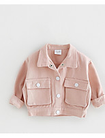 Children's Casual/Daily Solid Jacket & Coat,Cotton Spring Fall Long Sleeve
