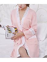 Lingerie en Dentelle Vêtement de nuit Femme,Dentelle Couleur Pleine-Mince Coton Aux femmes