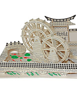 Jigsaw Puzzles DIY KIT 3D Lijiang Water Wheel Logic & Puzzle Toys Building Blocks DIY Toys Square Architecture Toys 1Model