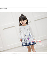 Girl's Casual/Daily Solid Dress,Cotton Summer Spring