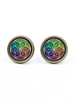Stud Earrings Jewelry Party Daily Casual Alloy 1 pair Silver Coppery
