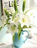 1 Une succursale Fleur séchée Lis Fleur de Table Fleurs artificielles