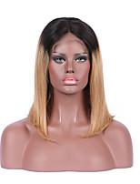 beata Haar des brasilianischen reinen Haares glueless Spitzefrontseite Perücke ombre 1b 27 blonde kurze Bob-Perücke für Frauen
