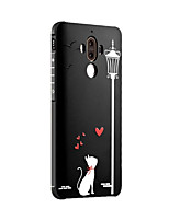 For Huawei Mate 9 Mate 9 Pro Case Cover Shockproof Frosted Embossed Pattern Back Cover Cat Soft Silicone Honor 6X Mate 8 Mate 7 Nova