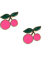 Fashion Women Cherry  Alloy Earring
