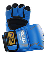 Boxing Gloves for Boxing Fingerless Gloves Protective PU Black Blue