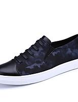 Черно-белый Красно-черный-Для мужчин-Для прогулок Для офиса Повседневный Для занятий спортом-Полиуретан-На плоской подошве-Удобная обувь