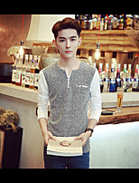-P35- New men's casual long-sleeved T-shirt new supermarkets cafe