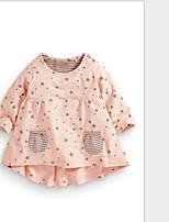 Блуза На каждый день Хлопок Однотонный Все сезоны