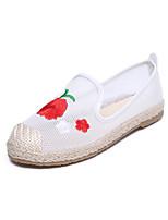 Women's Sandals Summer Ballerina Tulle Outdoor Dress Casual Low Heel Flower Walking