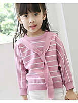 Casual/Daily Holiday School Striped Sweater & Cardigan,Cotton Fall