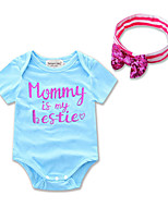 One-Pieces Summer Baby's Triangle Romper Mother Nest Baby Short Sleeves Girl Pajamas Letter Printed Newborn Boy Derss