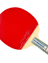 5 étoiles Ping Pang/Tennis de table Raquettes Ping Pang Bois Manche Court Boutons