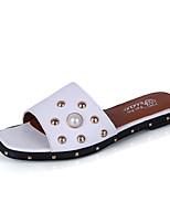 Slippers & Flip-Flops Summer Mary Jane Leatherette Casual Low Heel Pearl Rivet Walking