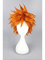 curta haikyuu !! - hinata syouyou laranja 14inch anime cosplay peruca cs-186K