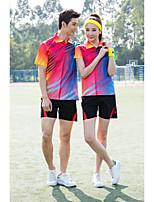 Men's Half Sleeve Tennis Clothing Sets/Suits Shorts Breathable Comfortable Yellow Red Blue Purple Black Badminton