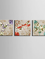 E-HOME® Stretched Canvas Art Flowers And Animals Series Decoration Painting MINI SIZE One Pcs