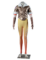 Inspired by Overwatch D.Va Video Game Cosplay Costumes Cosplay Suits Solid Houndstooth Yellow Brown Coat Pants