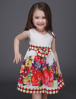 Girl's Solid Dress,Others Summer Sleeveless