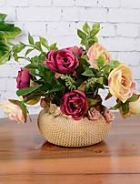 1 Une succursale Fleur séchée Azalée Fleur de Table Fleurs artificielles