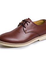 Masculino-Oxfords-Conforto sapatos Bullock-Rasteiro-Preto Café Vinho-Couro-Casamento Ar-Livre Casual Festas & Noite
